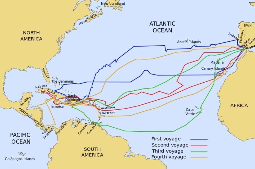 Columbus' Journeys