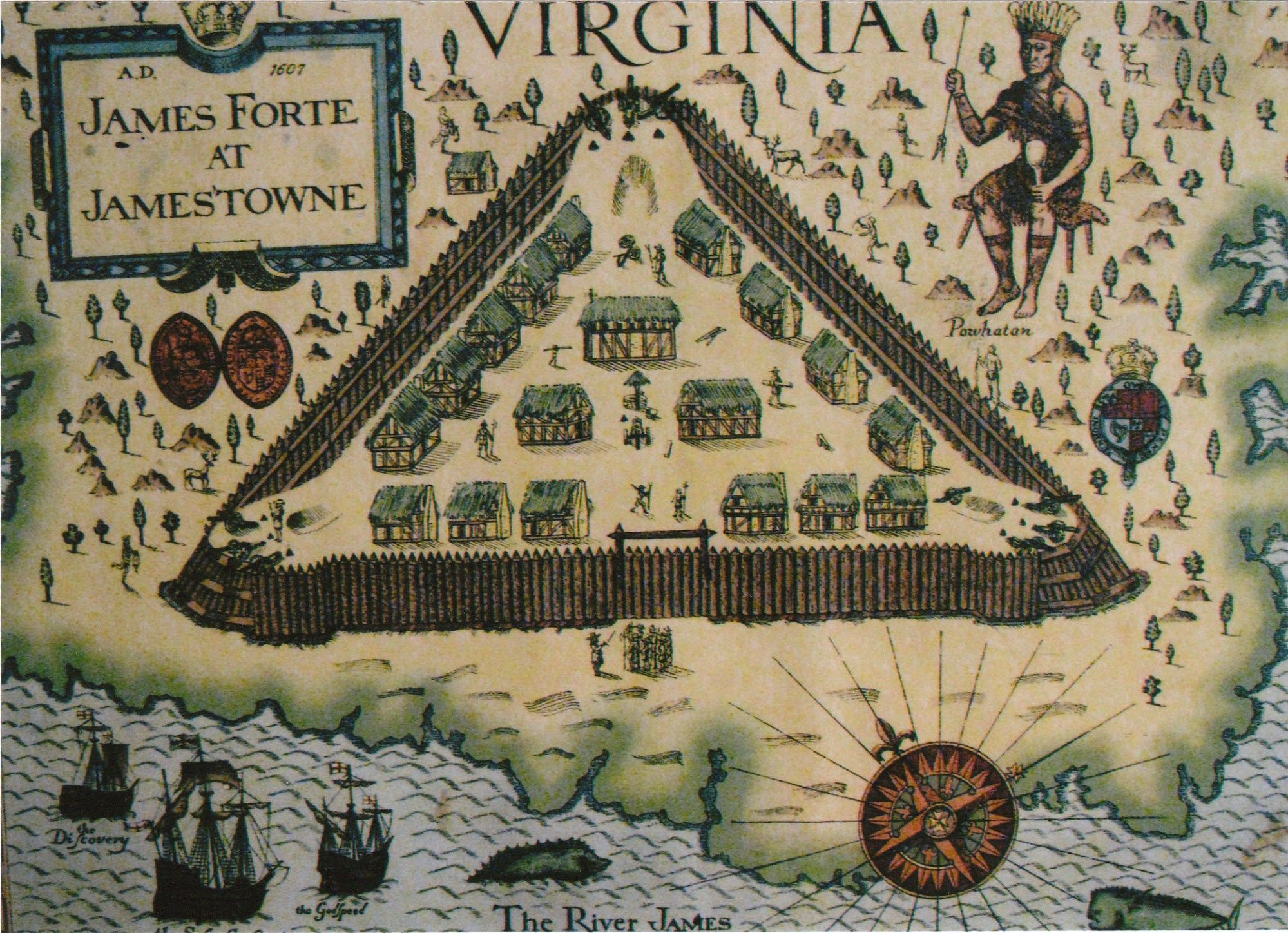 Early map of Jamestown
